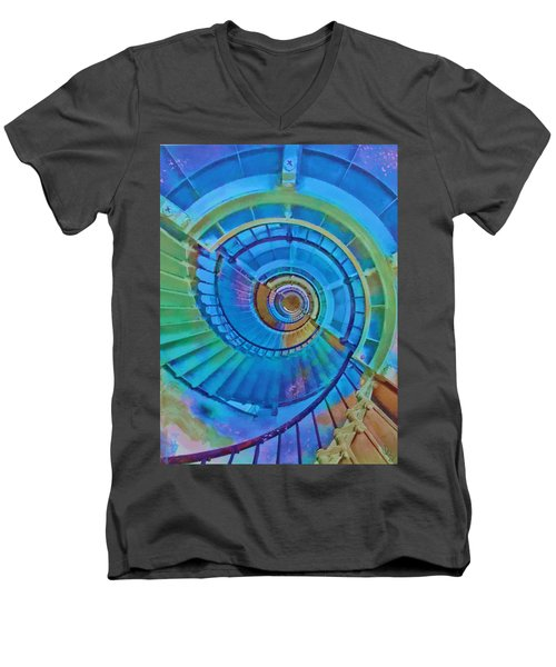 Stairway To Lighthouse Heaven Men's V-Neck T-Shirt