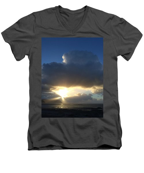 Sunbeams Over Conwy Men's V-Neck T-Shirt