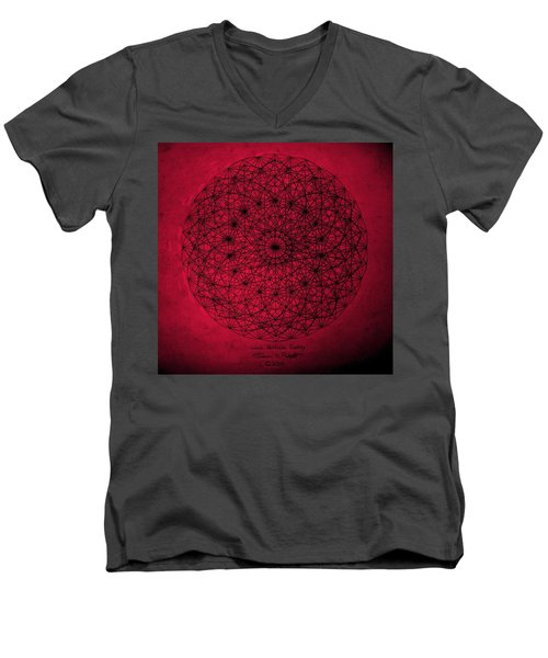 Men's V-Neck T-Shirt featuring the drawing Wave Particle Duality by Jason Padgett