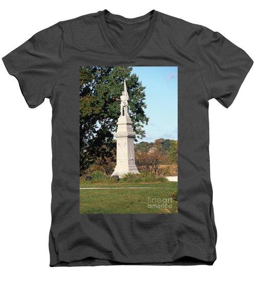 30u13 Hood Park Monument To Civil War Soldiers And Sailors Photo Men's V-Neck T-Shirt