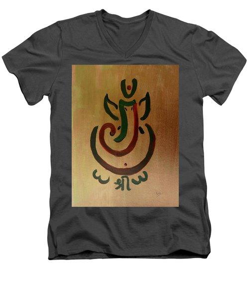 33 Rakta Ganesh Men's V-Neck T-Shirt