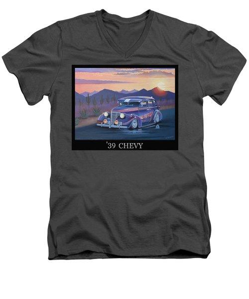 '39 Chevy Men's V-Neck T-Shirt by Stuart Swartz