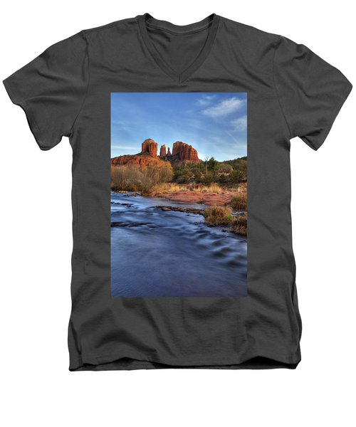 Cathedral Rocks In Sedona Men's V-Neck T-Shirt