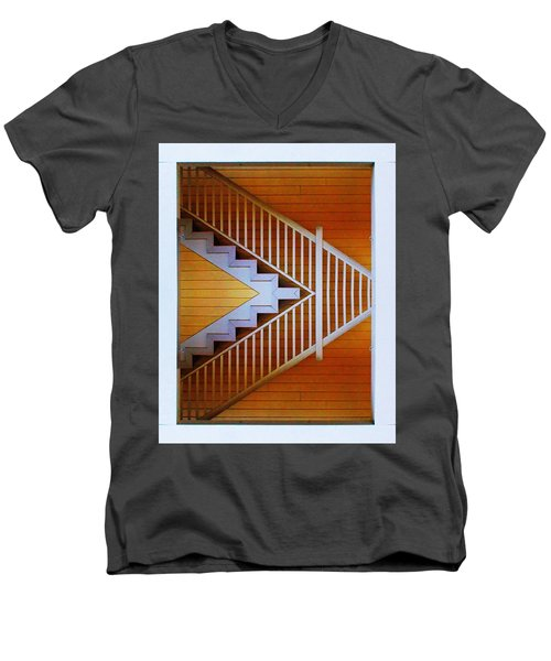 Distorted Stairs Men's V-Neck T-Shirt