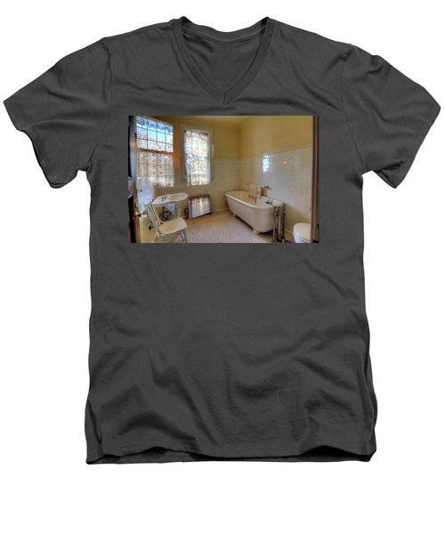 Glensheen Mansion Duluth Men's V-Neck T-Shirt by Amanda Stadther