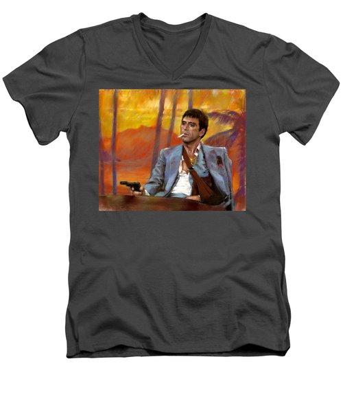 Scarface Men's V-Neck T-Shirt