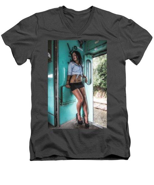 Take A Litte Trip Men's V-Neck T-Shirt