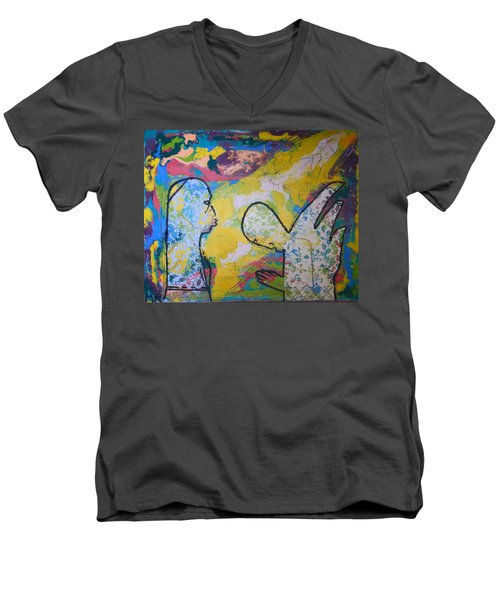 The Annunciation Men's V-Neck T-Shirt