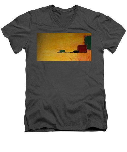 Without Name Men's V-Neck T-Shirt by Sir Josef - Social Critic -  Maha Art
