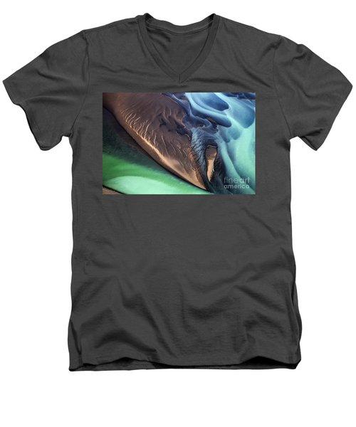 Iceland Aerial Photo Men's V-Neck T-Shirt