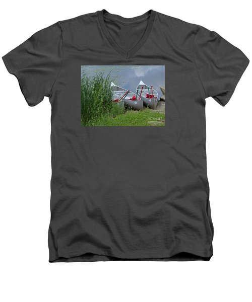 At Waters Edge Men's V-Neck T-Shirt
