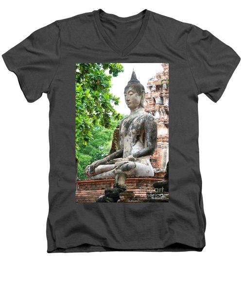 Buddha Statue Men's V-Neck T-Shirt