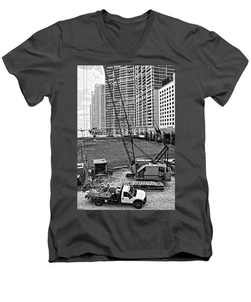 Construction Site-2 Men's V-Neck T-Shirt