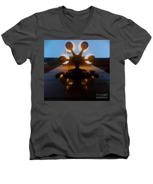 Men's V-Neck T-Shirt featuring the photograph 5 Points Of Light by James Aiken