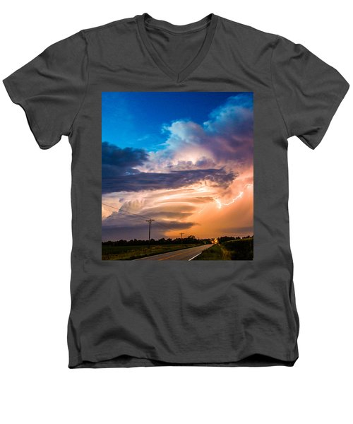 Wicked Good Nebraska Supercell Men's V-Neck T-Shirt