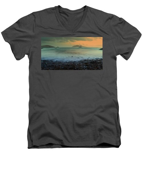 Blasket Islands Men's V-Neck T-Shirt by Barbara Walsh