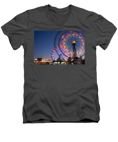 Evergreen State Fair With Ferris Wheel Men's V-Neck T-Shirt