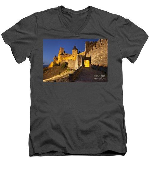 Medieval Carcassonne Men's V-Neck T-Shirt
