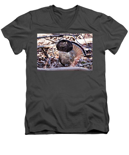 Ruffed Grouse Men's V-Neck T-Shirt