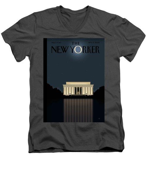 New Yorker November 17th, 2008 Men's V-Neck T-Shirt