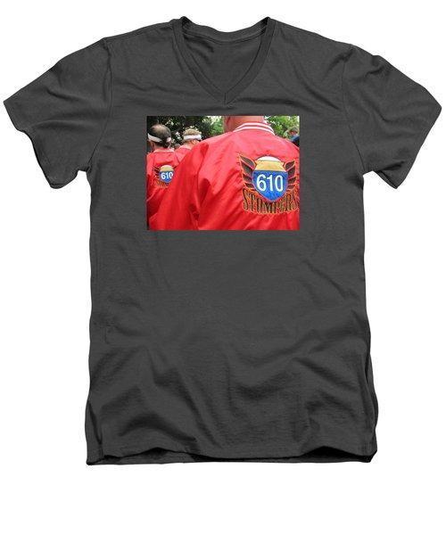 610 Stompers - New Orleans La Men's V-Neck T-Shirt by Deborah Lacoste