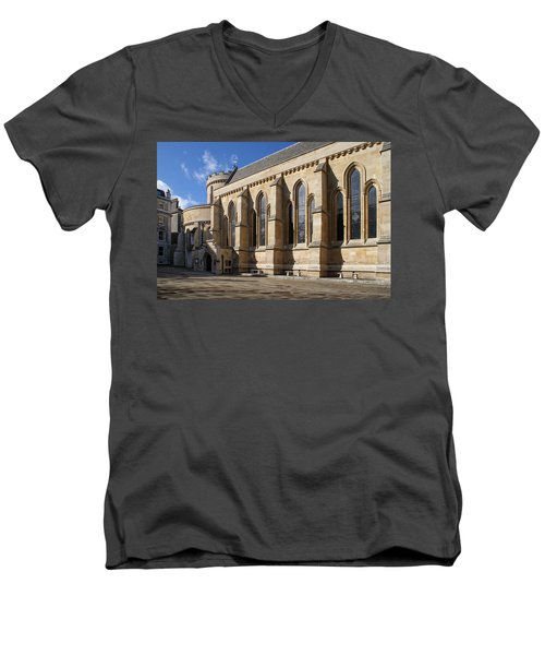 Knights Templar Temple In London Men's V-Neck T-Shirt