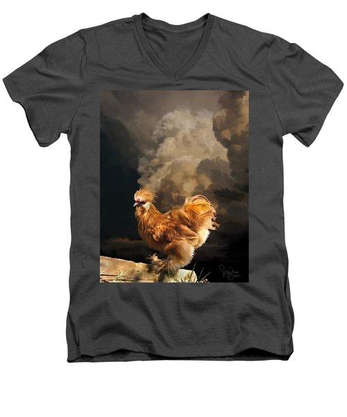 7. Thunder Buff Men's V-Neck T-Shirt