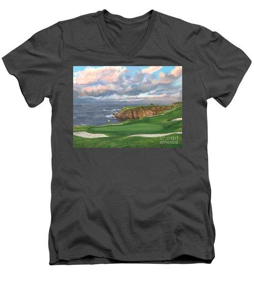 8th Hole Pebble Beach Men's V-Neck T-Shirt