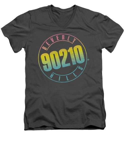 90210 - Color Blend Logo Men's V-Neck T-Shirt