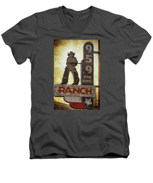 95.9 The Ranch Men's V-Neck T-Shirt