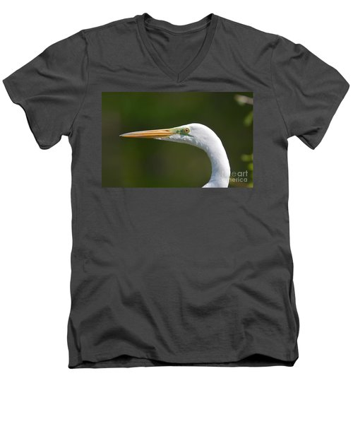 Men's V-Neck T-Shirt featuring the photograph A Beautiful Face by Kathy Baccari