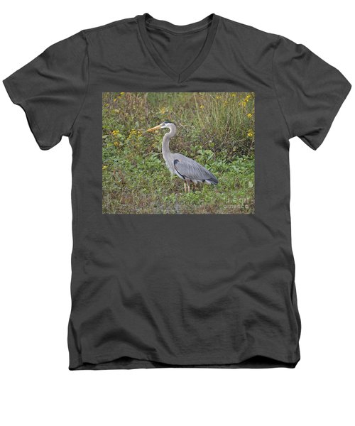 A Bird In A Bush Men's V-Neck T-Shirt