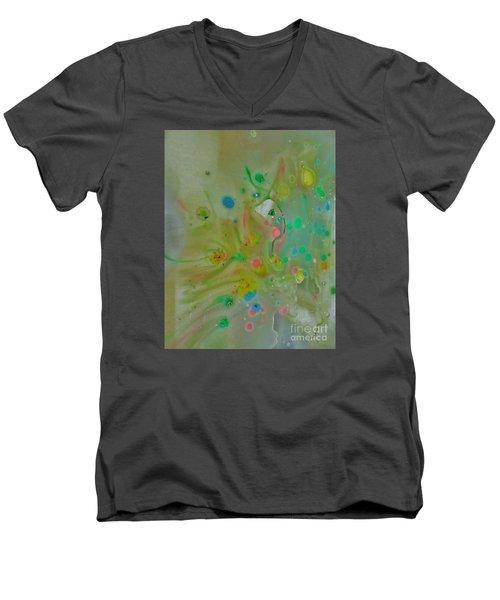 A Bird In Flight Men's V-Neck T-Shirt by Robin Coaker
