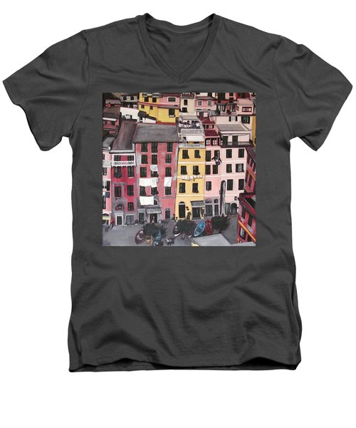 A Bird's Eye View Of Cinque Terre Men's V-Neck T-Shirt