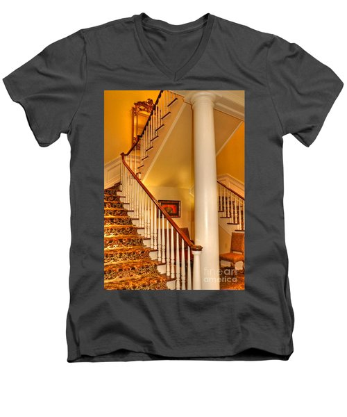 Men's V-Neck T-Shirt featuring the photograph A Bit Of Southern Style by Kathy Baccari