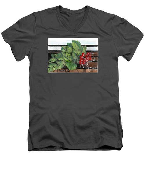 A Bunch Of Radishes  Men's V-Neck T-Shirt