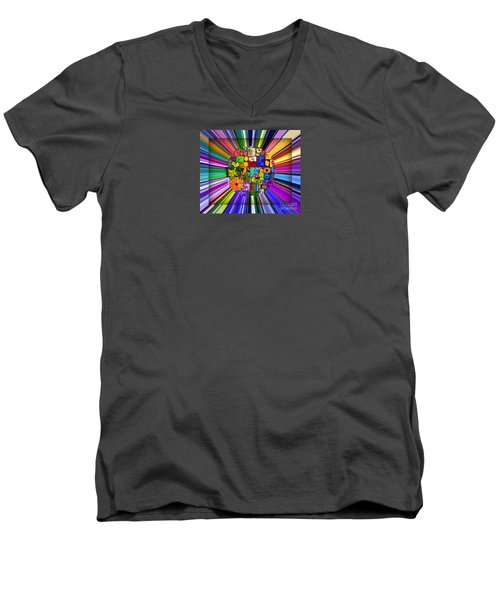 Men's V-Neck T-Shirt featuring the photograph A Burst Of Flowers by Janice Westerberg