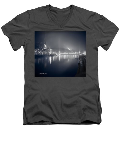 Men's V-Neck T-Shirt featuring the photograph A Cathedral In The Mist II by Stwayne Keubrick