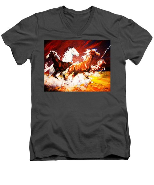 Unexpected Lighting Bolt Men's V-Neck T-Shirt