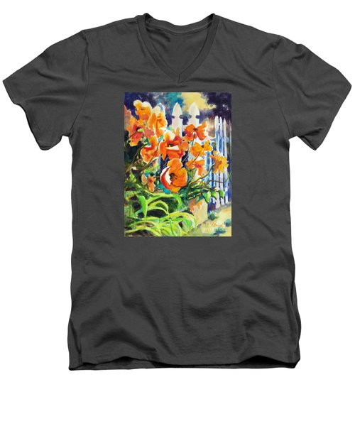 A Choir Of Poppies Men's V-Neck T-Shirt by Kathy Braud