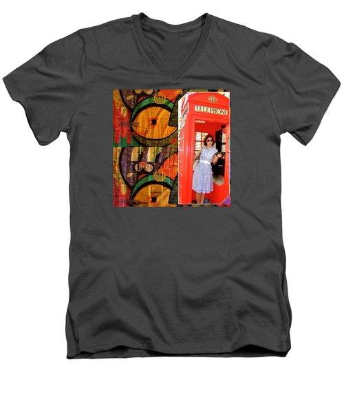 A Classic Chrissy Moment Men's V-Neck T-Shirt