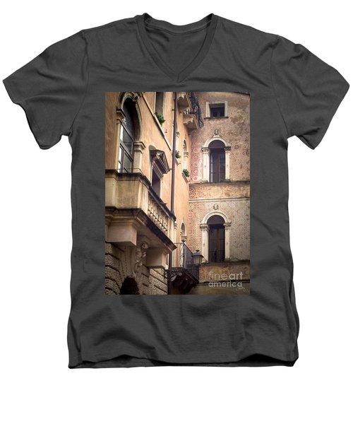 A Corner Of Vicenza Italy Men's V-Neck T-Shirt