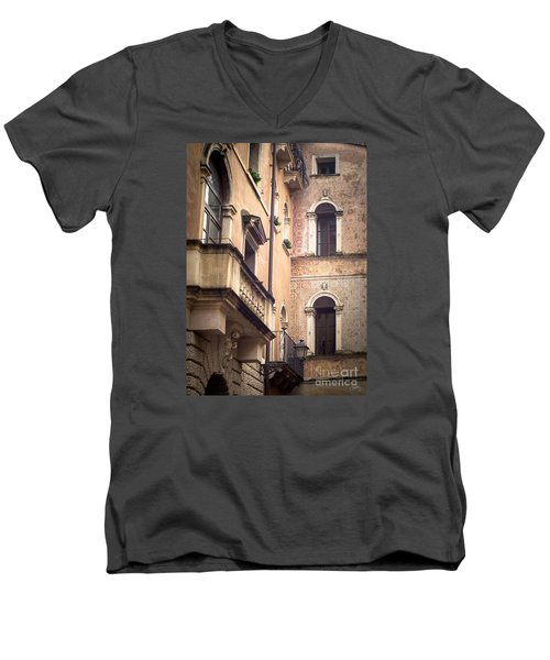 A Corner Of Vicenza Italy Men's V-Neck T-Shirt