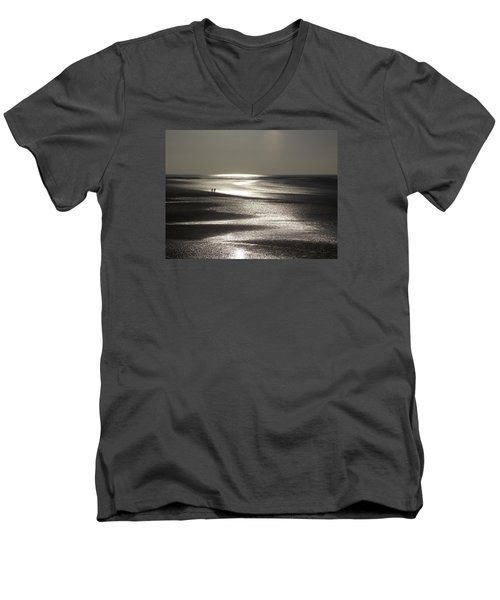 A Couple On A Deserted Beach Men's V-Neck T-Shirt