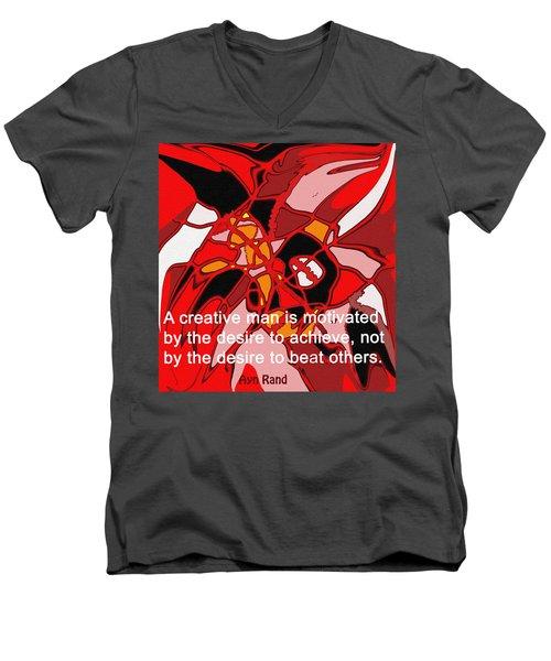 A Creative Man Men's V-Neck T-Shirt by Ian  MacDonald
