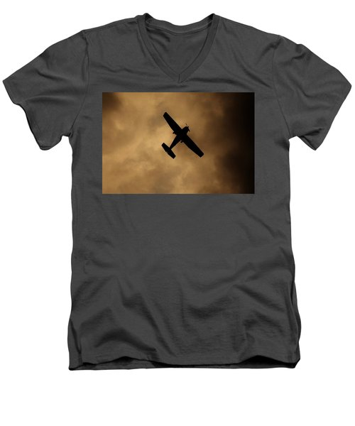 Men's V-Neck T-Shirt featuring the photograph A Dance In The Clouds by Jessica Shelton