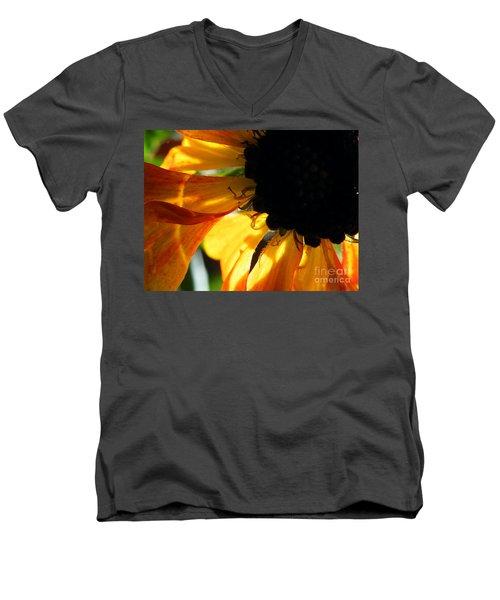 Men's V-Neck T-Shirt featuring the photograph A Dark Sun by Brian Boyle
