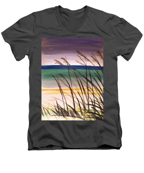 A Day At The Beach 2 Men's V-Neck T-Shirt