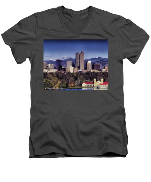 A Denver Autumn Men's V-Neck T-Shirt