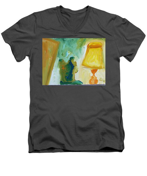 A Door A Chair And A Yellow Lamp Men's V-Neck T-Shirt
